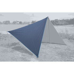Bent Canvas Plain Tarp Pojedynczy, sepia blue/zipper light blue